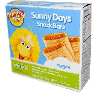 Earth's Best Sesame Street Apple Snack Bar (6x5.3 Oz)