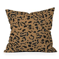 Leeana Benson Cheetah Print Throw Pillow