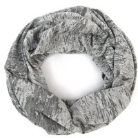 ON SALE Neutral Cowl Scarf Dark and Light Grey Infinity Cowl Scarf Woman Scarves Women's Accessory Poe-Poe's Just Enough Scarf Teen Gift