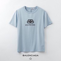 Balenciaga classic letter printing round neck slim short sleeve fashion men's and women's T-shirt