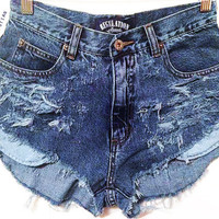 Distressed high waisted denim, ripped jeans, hipster style, coachella shorts, tumblr style