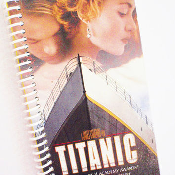 TITANIC Notebook Journal upcycled spiral Vhs movie Leonardo DiCaprio