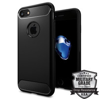Rugged Armor Case for iPhone 7 / 7 Plus Military Grade Drop Resistance Flexible TPU Back Cases for iPhone 7 / iPhone 7 Plus