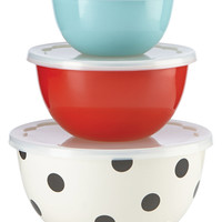 kate spade new york all in good taste Set of 3 Serve and Store Bowls, Only at Macy's