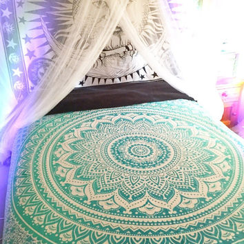 Shopnelo Home Special Mandala Tapestries, Hippy Hippie Wall Hanging, Wall Tapestries ,Bedroom special , Indian Mandala Tapestries, Bohemian Tapestry, Sofa Cover, Beach Blanket, Dorm Decor Wall Art Ombre Mandala Tapestries