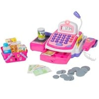 Pretend Play Electronic Cash Register Toy Realistic Actions & Sounds Pink - Walmart.com