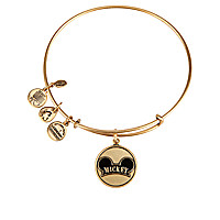 Mickey Mouse Cloisonne Charm Bangle by Alex and Ani - Gold