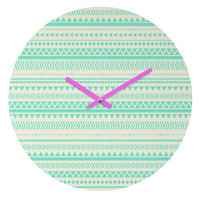 Allyson Johnson Mint Tribal Round Clock