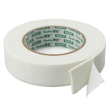 """Wide Thick Double-Sided Sticky Foam Tape, 0.10"""" Thick, 1.25"""" Wide x 118"""" Long"""