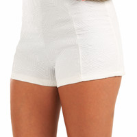 Small Town Love Shorts: White