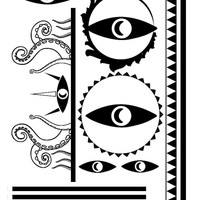 2 sheets of Welcome to Night Vale Cecil Tentacle Tattoos cosplay