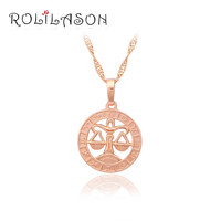 12 Constellation Round Libra design glittering Necklace 18K yellow gold plated Fashion Jewelry Necklace & Pendants LN460