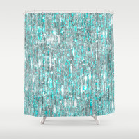 The Cold Never Bothered Me Anyway (Frozen Icicle Abstract) Shower Curtain by soaring anchor designs ⚓ | Society6