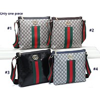 Tiktoki1 GUCCI stylish one-shoulder bag with printed stripes hot seller of casual lady's shopping bag