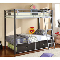 Twin Bed With Futon Base Cletia Collection Cm-Bk1014