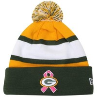 New Era Green Bay Packers Breast Cancer Awareness On-Field Sport Knit Beanie - Green/Gold
