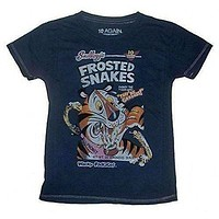 10 Again Wacky Packages Frosted Snakes Vintage Style Boys T-Shirt