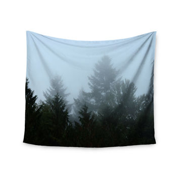 """Robin Dickinson """"Welcome to Earth"""" Mist Forest Wall Tapestry"""