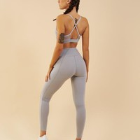 Gymshark Aspire Leggings - Light Grey Marl
