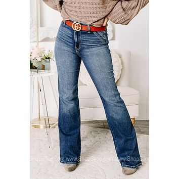 Working For It High Rise Flare Jeans