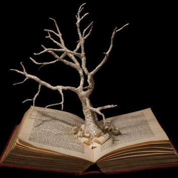 "Book Sculpture ""Unkindled Growth"" Photographic Print 10"" x 8"""