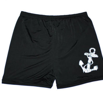 Roller Derby / Yoga pants with Silver anchor