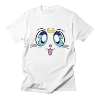 Sailor Moon Casual T Shirt Women Funny Comfortable Breathable Graphic Fashion Streetwear Harajuku Summer Women Tshirt Plus Size