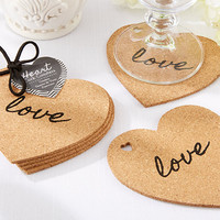 Heart Cork Coasters (Set of 4)