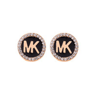 Christmas Gift for Her Alloy Accessory Simple Design Diamonds Earrings [8573610061]