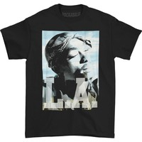 Tupac Men's  LA Tupac T-shirt Black