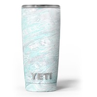 Teal Slate Marble Surface V39 - Skin Decal Vinyl Wrap Kit compatible with the Yeti Rambler Cooler Tumbler Cups