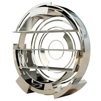 Glossy steel bookcase VORTEX by Michael Yeung Design | design Michael Yeung