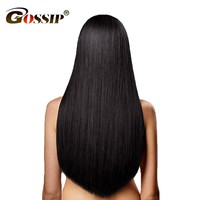 Gossip Peruvian Straight Hair Bundles 100% Human Hair Bundles Deal Peruvian Straight Human Hair Weave Non Remy Hair Extension