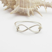 infinity  ring/ sterling silver wire-  sterling silver ring  CYR 025