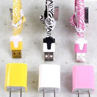 Total 6pcs/Lot! Im 3PCS USB Data Charging Cord and charger iphone 4/4