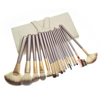 18-pcs Hot Sale White Luxury Beige Make-up Brush = 4830992644