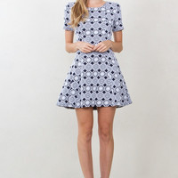 Sugarlips Linked In Short Sleeve Fit And Flare Knit Dress