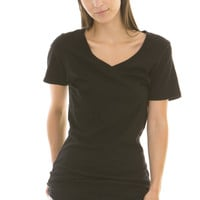 Women's Slouch-Pocket V-Neck Tee