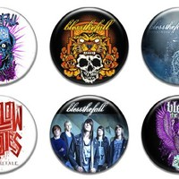 """Set of 6 New Blessthefall 1.25"""" Pinback Button Badge Pin"""