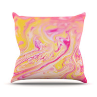 """Ingrid Beddoes """"Bubble Gum Pink"""" Throw Pillow"""