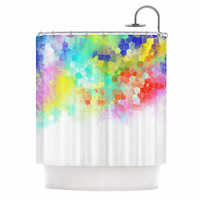 "Dan Sekanwagi ""Color Structure"" Colorful Abstract Shower Curtain"