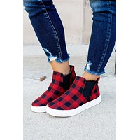 Very G Tesoro Sneakers (Red Plaid)
