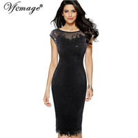 Vfemage Womens Sexy Sequins Crochet Butterfly Lace Party Bodycon Evening Bridemaid Mother of Bride Special Occasion Dress 3998