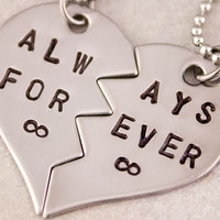 Always Forever Necklaces | Couples Jewelry | Girlfriend Gift | Boyfriend Gift | Best Friend Necklaces | His Her Jewelry | Couples Gift