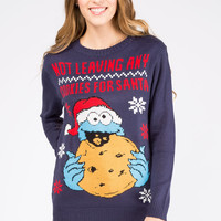 Girls Cookie Monster Christmas Pull Over Sweater