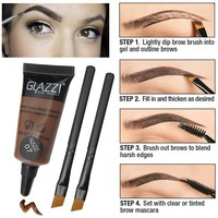 Long Lasting Tint Waterproof Eyebrow Enhancer with Dry Brushes Sets
