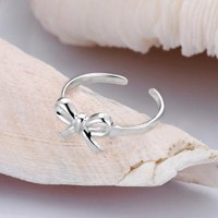 925 Silver Cute Bowtie Ring by forevervintage on Zibbet