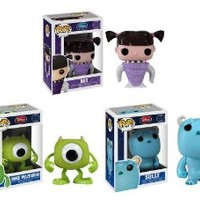 Funko POP Monsters Inc Set of 3 Featuring Mike, Sulley, & Boo Vinyl Figure Bobble