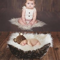 Photography born Photographic Backdrops born Props Blanket Basket Stuffier