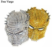 Holographic Spikey Predator Full Face Mask